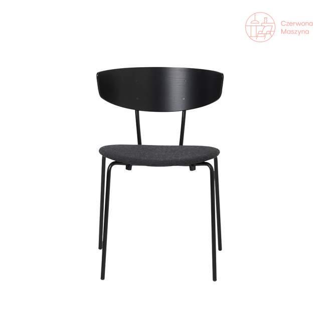 Krzesło tapicerowane ferm LIVING Herman, czarno-szare