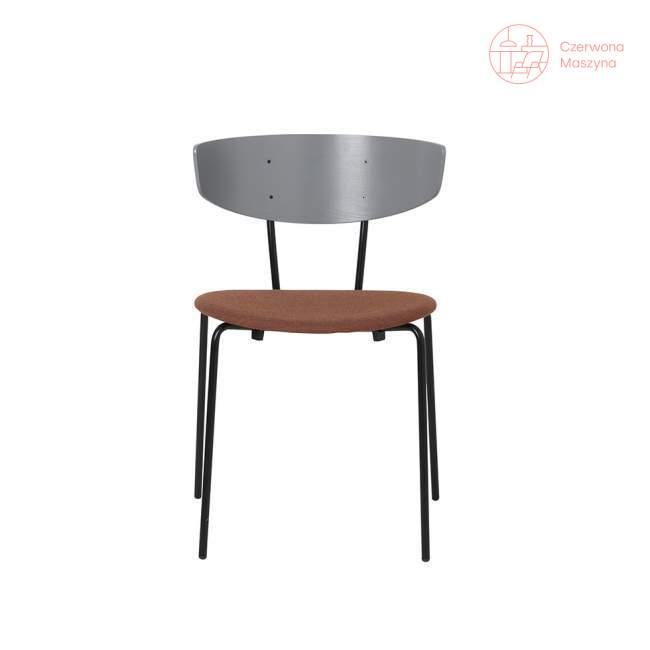 Krzesło tapicerowane ferm LIVING Herman, szaro-brązowe