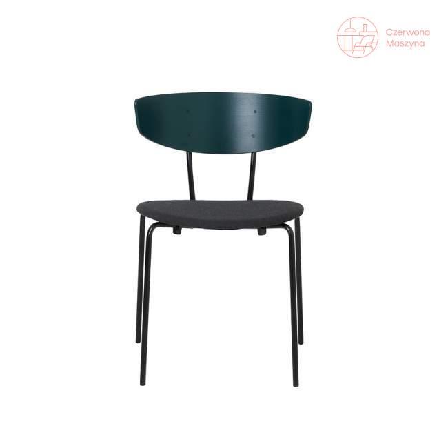 Krzesło tapicerowane ferm LIVING Herman, zielone