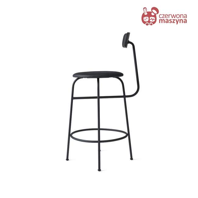 Krzesło barowe Menu Afteroom skóra Soerensen 92 cm, czarne
