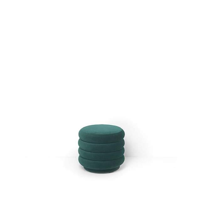 Pufa ferm LIVING Round Dark Green Ø 42 cm