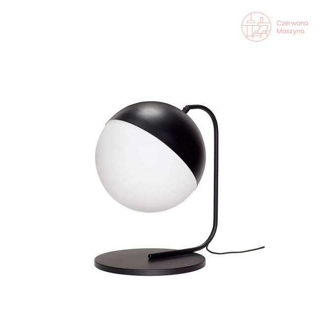 Kulista lampa stołowa Hübsch Bausi, czarno-biała