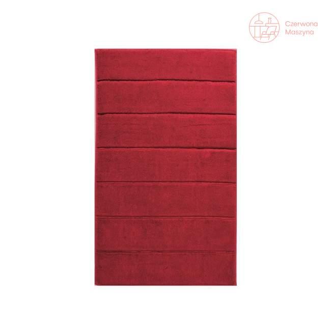 Dywanik łazienkowy Aquanova Adagio 60 x 100 cm, czerwony