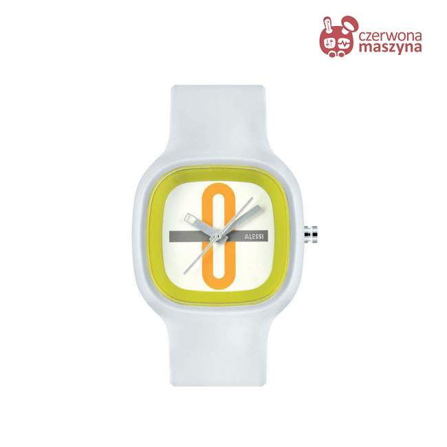 Zegarek Alessi Kaj ze wzorem, biały