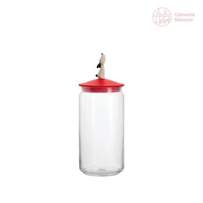 Pojemnik na karmę dla psa A di Alessi LulaJar 1,5 l, czerwony