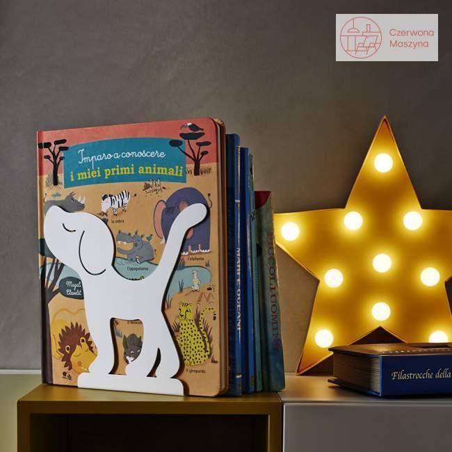 Podpórka do książek A di Alessi Montparnasse, biała