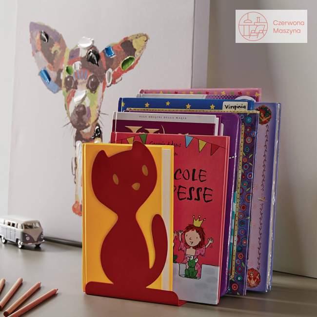 Podpórka do książek A di Alessi Vigo, czerwona