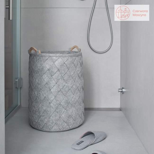 Kosz na pranie 75 l Aquanova Amy silver grey