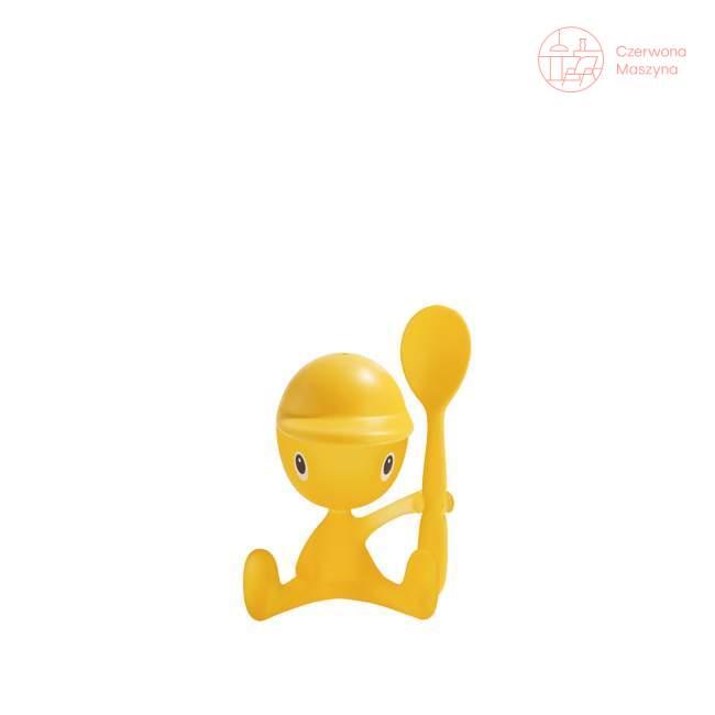Kieliszek na jajko z solniczką i łyżeczką A di Alessi Cico żółty