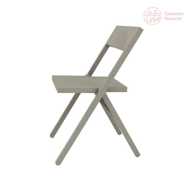 Krzesło składane Alessi Piana, szare
