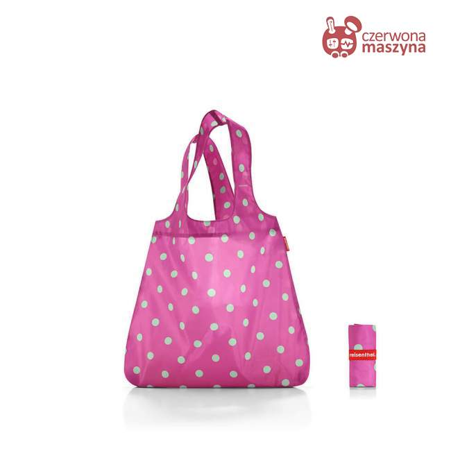 Torba na zakupy Reisenthel Mini Maxi Shopper 15 l, magenta dots