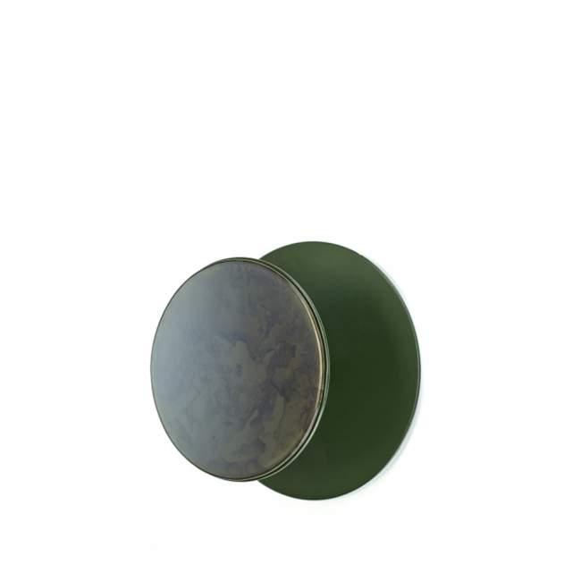 Wieszak z lustrem Serax Reflect Ø 25 cm, ciemna zieleń