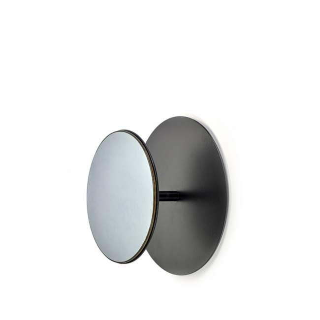 Wieszak z lustrem Serax Reflect Ø 30 cm czarny