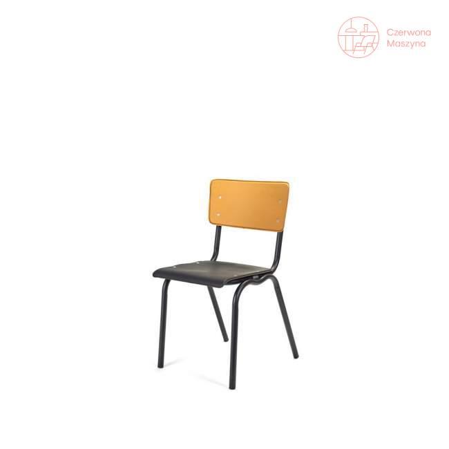 Krzesło Serax Vinyl, czarno-żółte