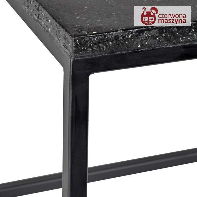 Stolik pomocniczy Serax Terrazzo 90 x 100 cm, czarny