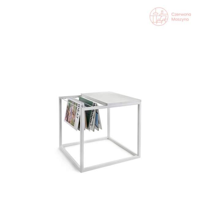 Stolik z gazetnikiem Serax Hang It 47 cm, biały