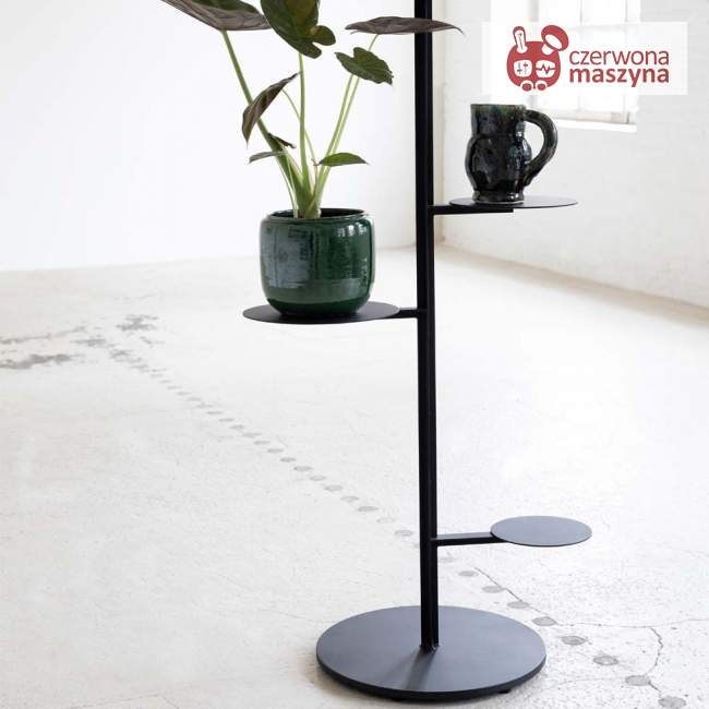 Stojak na doniczkę Serax, 135 cm, czarny