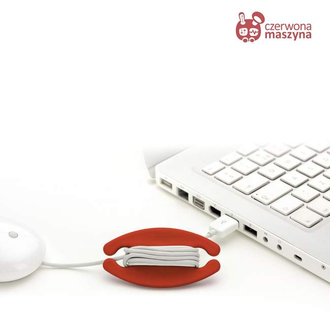 Zwijacz do kabla Bobino 8 cm, czerwony