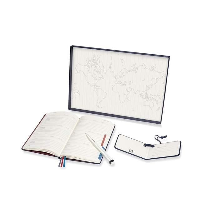 Zestaw Moleskine Voyageur (notes Voyageur, długopis, zawieszka), szafirowy