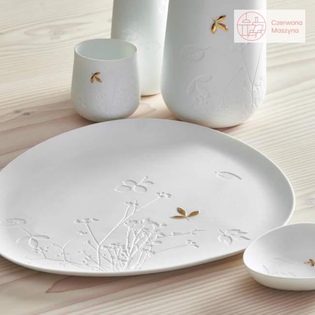 Taca porcelanowa Raeder, złoty listek