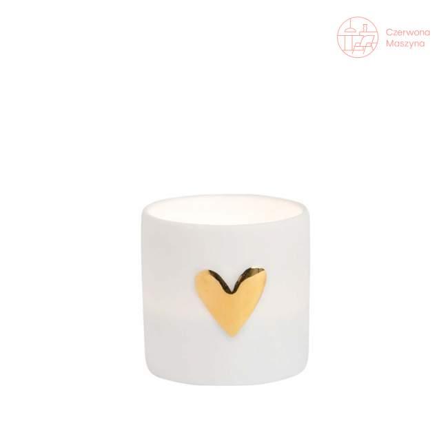 2 Świeczniki na tealight Raeder, złote serce