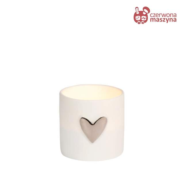 2 Świeczniki na tealight Raeder, srebrne serce
