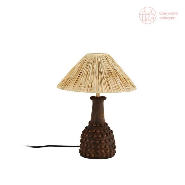 Lampa stołowa z terakoty Madam Stoltz, coffee/natural