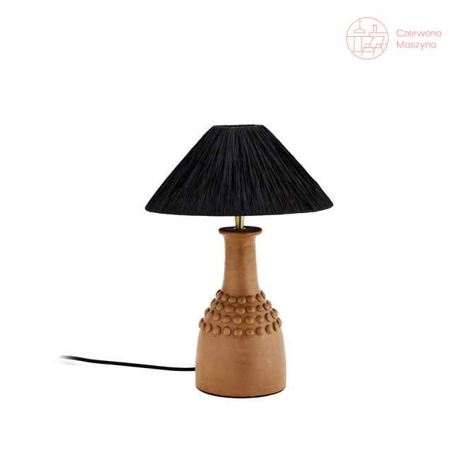 Lampa stołowa z terakoty Madam Stoltz, natural/black