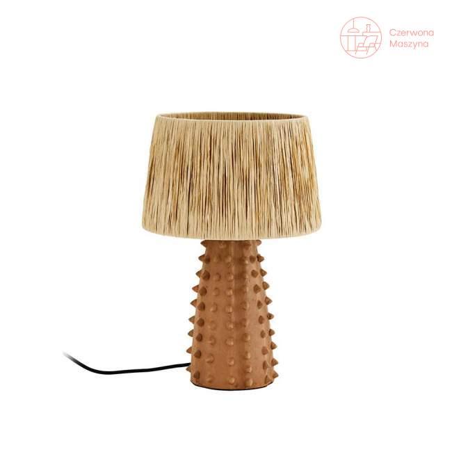 Lampa stołowa z terakoty Madam Stoltz, natural