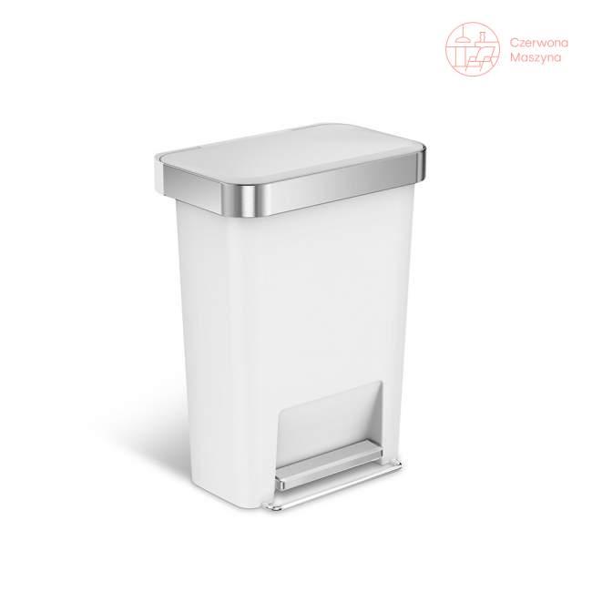 Kosz pedałowy Simplehuman Liner Pocket 45 l, biały