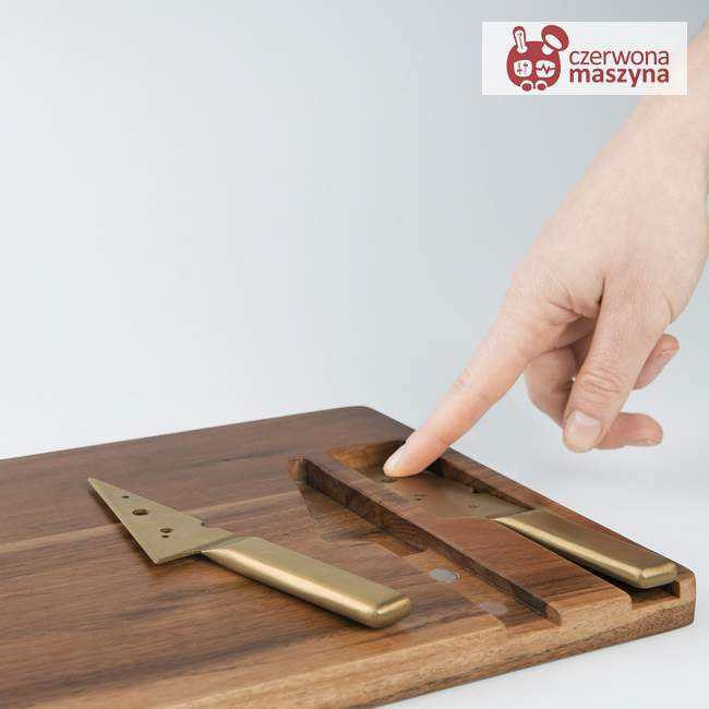Deska i 2 noże do serów Doiy