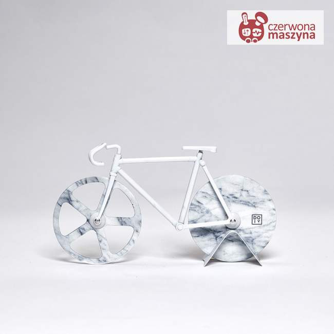 Nóż do pizzy rower Doiy Fixie White marble