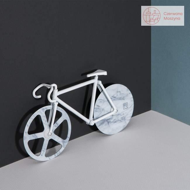 Nóż do pizzy rower Doiy Fixie White marble