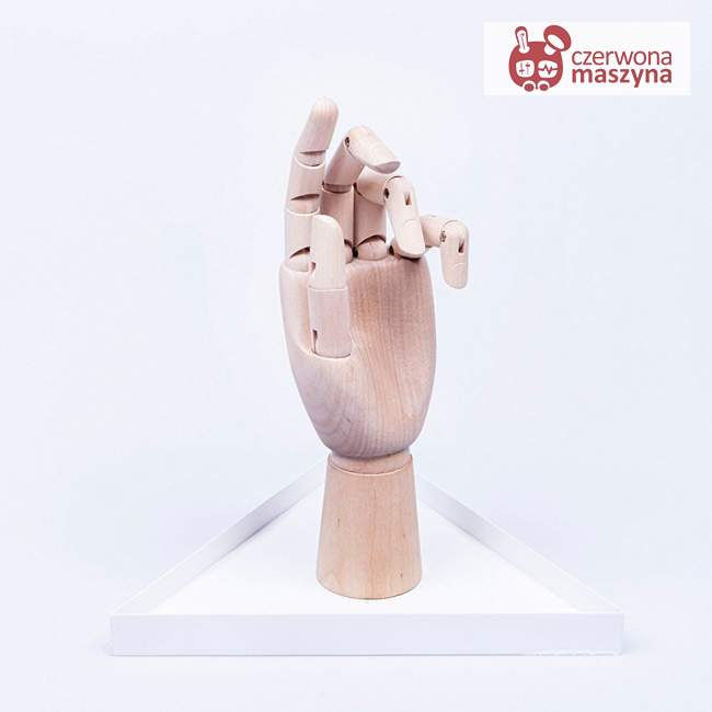 Stojak na biżuterię Doiy The Hand, jasne drewno