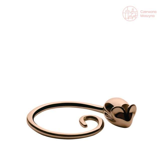 Breloczek Alessi Pip różowe złoto