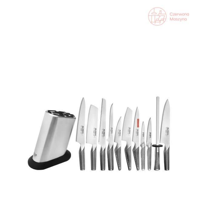 11-elementowy zestaw noży w bloku Global