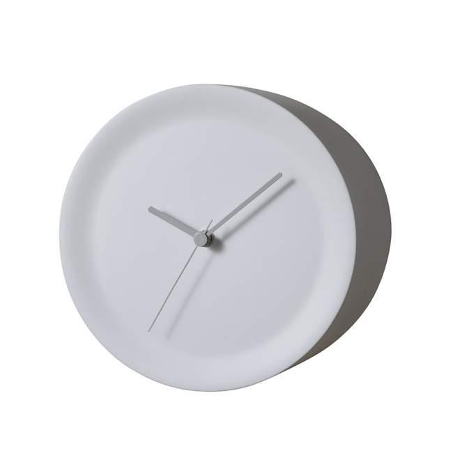 Zegar narożny Alessi Ora Out Ø 21 cm, biały