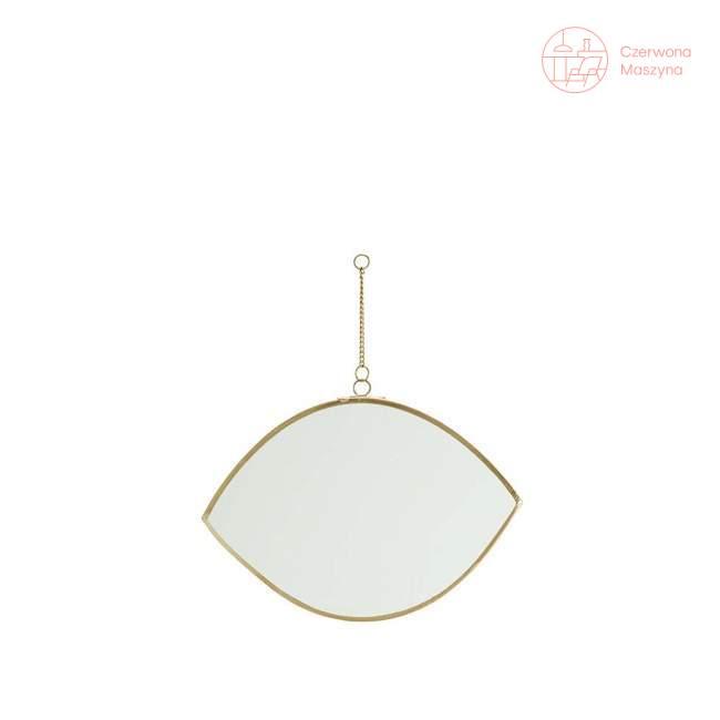 Wiszące lustro w kształcie oka Madam Stoltz dł. 16 cm, brass