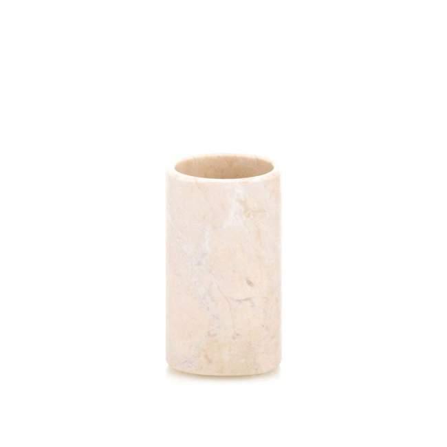 Kubek na szczoteczki Kela Marble, Ø 6,5 cm, beżowy
