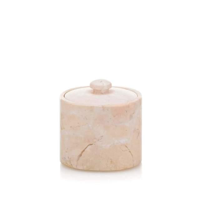 Pojemnik na płatki kosmetyczne Kela Marble, Ø 9 cm, beżowy