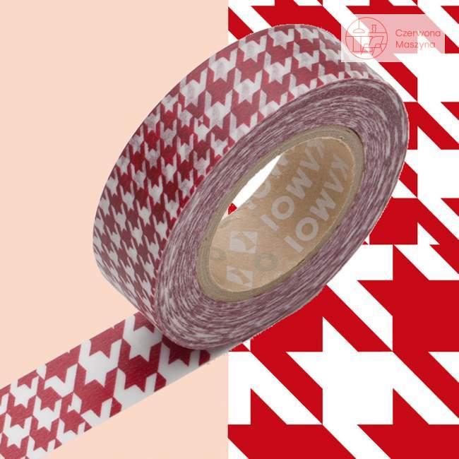 Taśma dekoracyjna Masking Tape 1P Deco chidori red