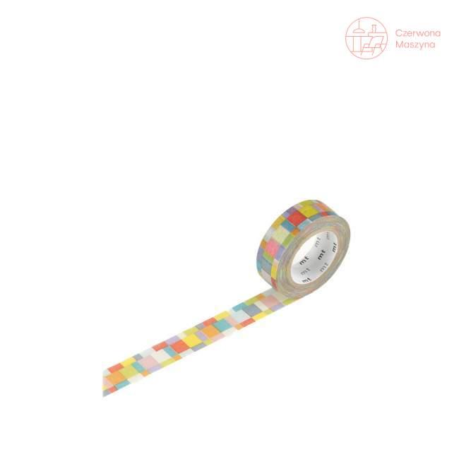 Taśma dekoracyjna Masking Tape 1P Deco mosaic bright