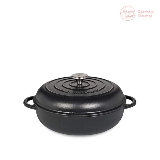 Patelnia do serwowania z pokrywką Küchenprofi Provence, czarna