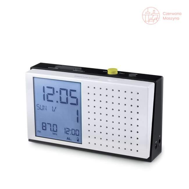 Radio z zegarkiem Lexon Hobo biały