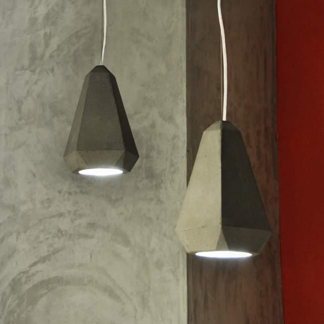 Lampa wisząca Innermost Portland Ø 19 cm, beton