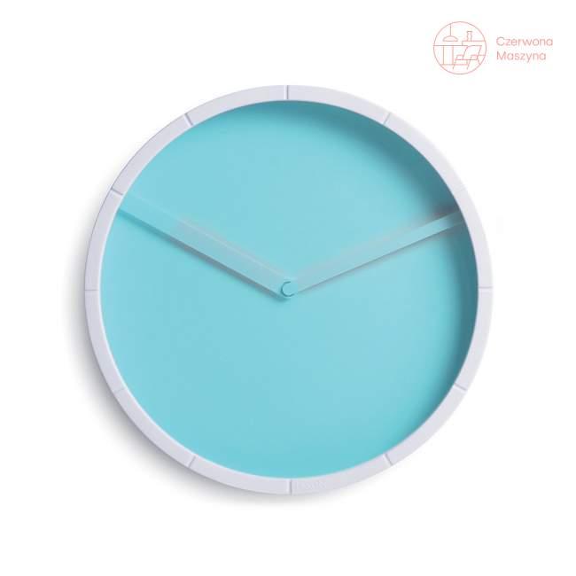 Zegar ścienny Lexon Glow niebieski