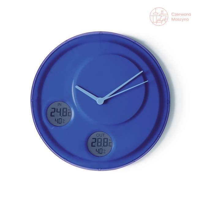 Zegar ścienny Lexon Flow, niebieski