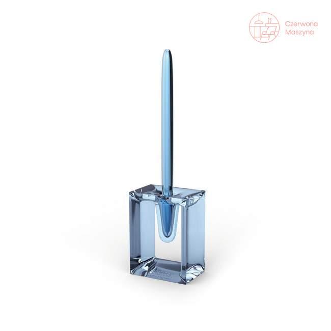 Długopis z podstawką Lexon Liquid Peter Pen, niebieski przezroczysty