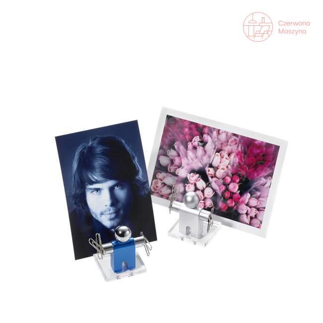 Stojak na wizytówki z magnesem Troika Jumper, niebieski