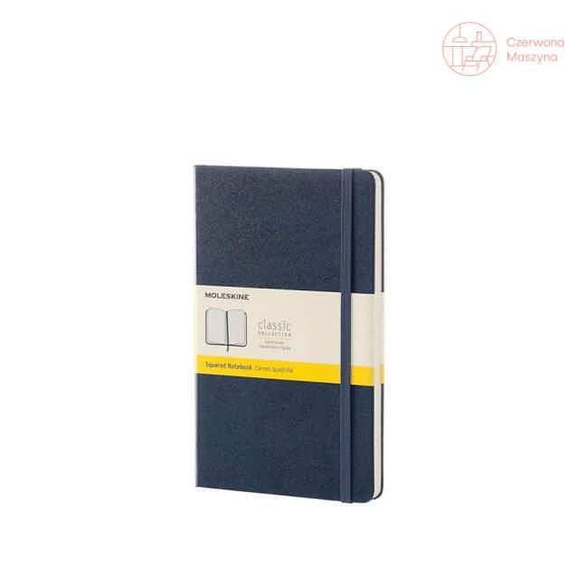 Notes Moleskine Classic L w kratkę, twarda oprawa, 240 strony, szafirowy